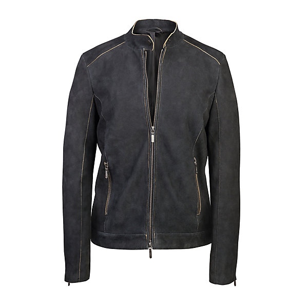 Women's Suede Goat Leather Jacket_01
