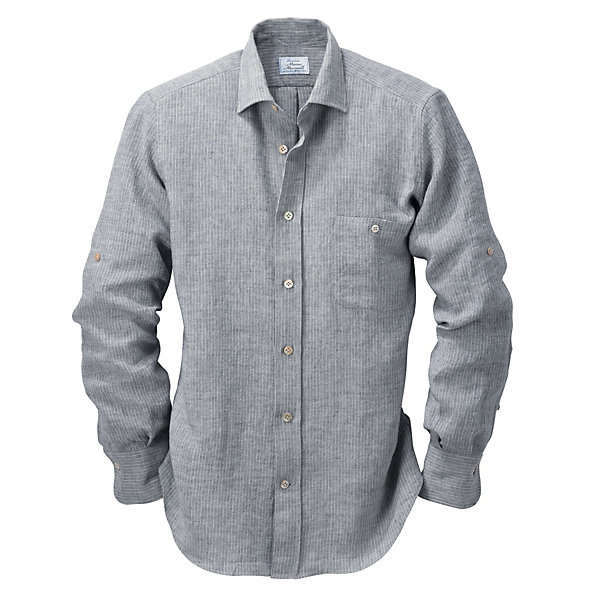 Striped Irish Linen Shirt_01