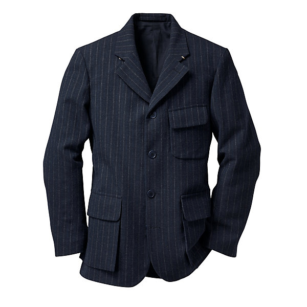 Nigel Cabourn Pinstripe Raw Flannel Men's Jacket_01