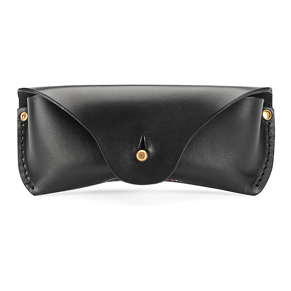 Saddle leather glasses case_01