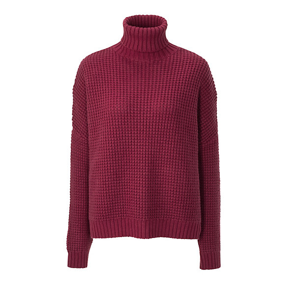Wunderwerk Ladies'- Honeycomb Patterned Turtleneck Sweater_01