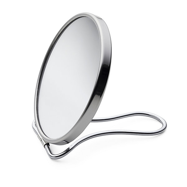 Travel Mirror Glass and Chrome-Plated Brass_01