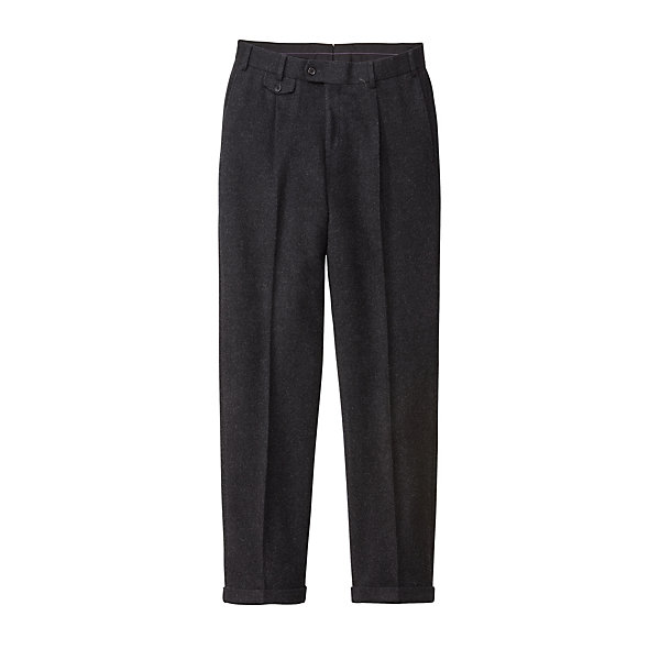 Hiltl Men's- Loden Front Pleat Trousers_01