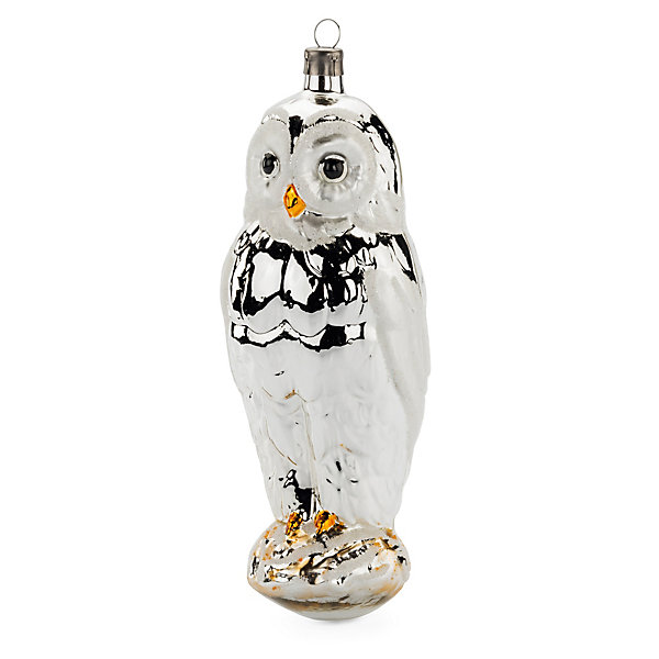 Traditional Lauscha Glass Large Owl_01