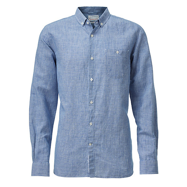Knowledge Cotton Apparel Houndstooth Men's Shirt_01