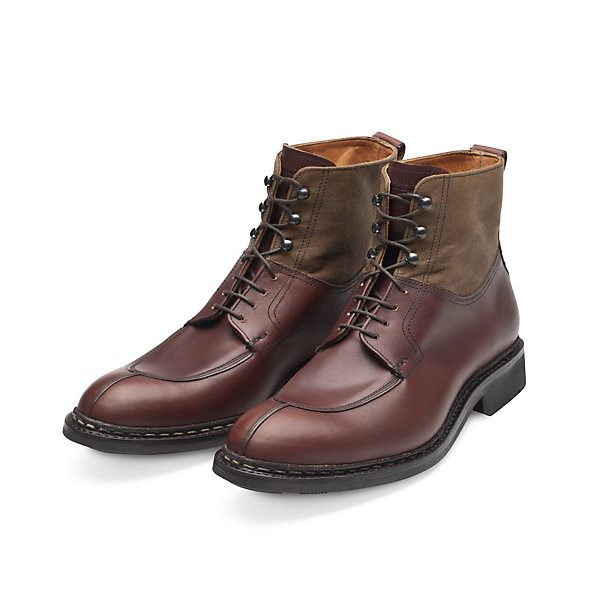 Men's Heschung High Cut Calf Leather and Cotton Shoe_01
