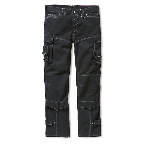 Cotton Canvas Pleated Work Trousers_01