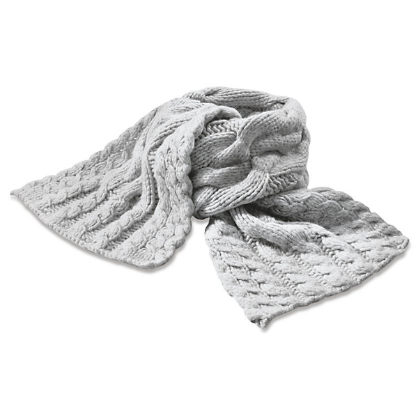 Ladies' Hand-Knitted Lambswool Scarf_01