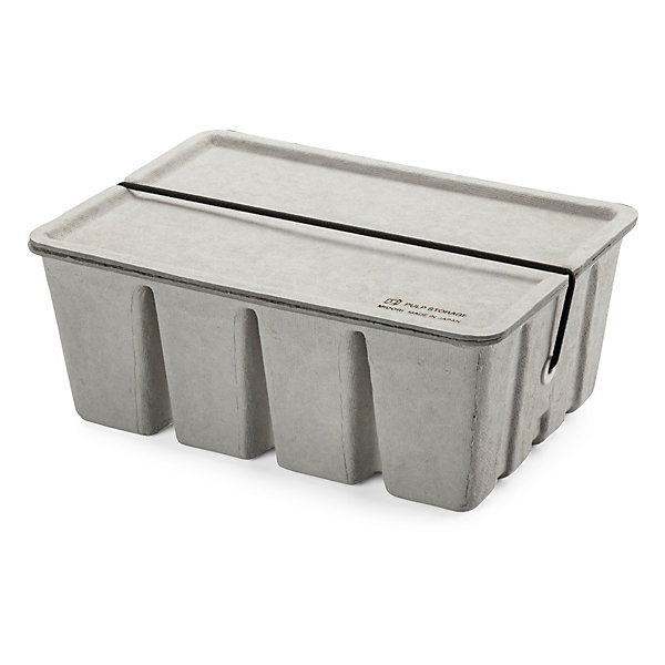 Box for Utensils Made of Pressed Pulp