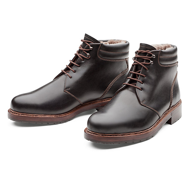 Dinkelacker Laced Boots Lined with Lambskin