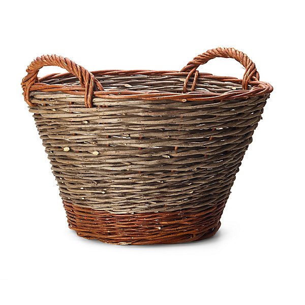 Garden Basket Made of Robinia and Willow