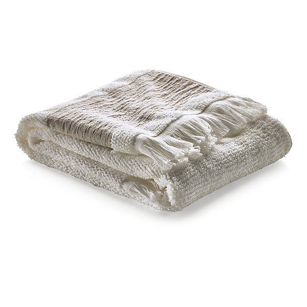 Hand Towel with Linen Border