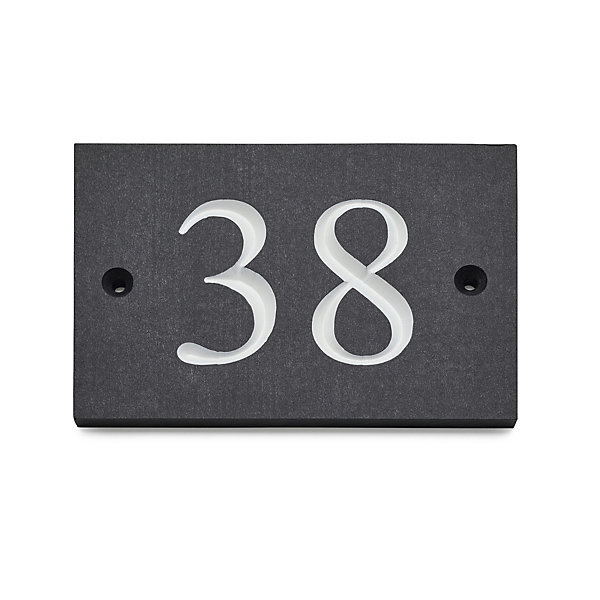 House Numbers from Recycled Plastic