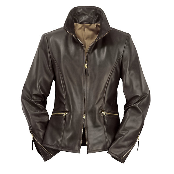 Ladies' Horse-Hide Leather Roadster Jacket