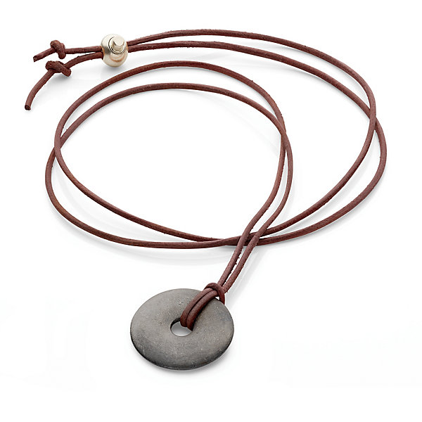Necklace with Sand Cast Pendant
