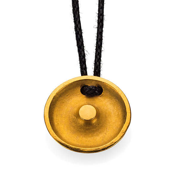 Necklace with sun and gold symbol pendant
