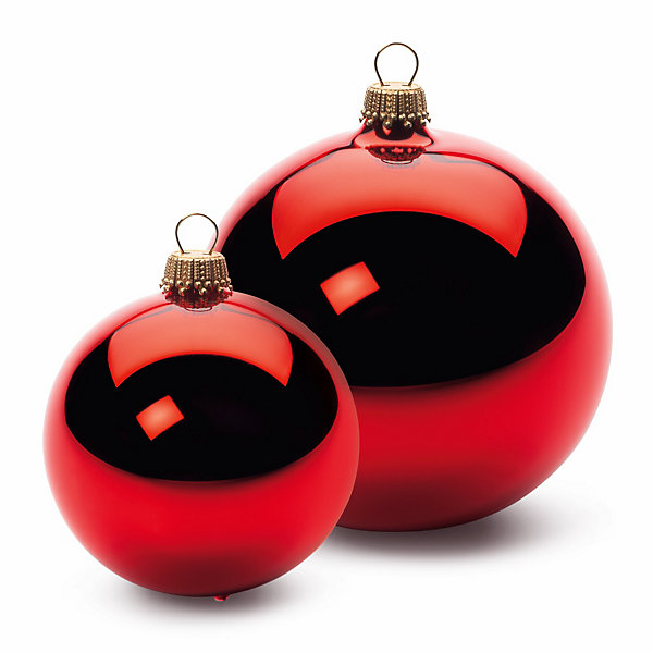 Red Lauscha Christmas Tree Ornaments