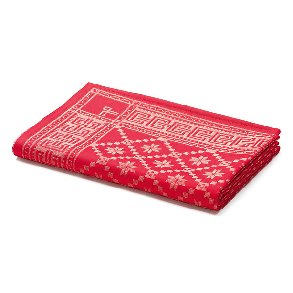 Red Swedish Table Cloth