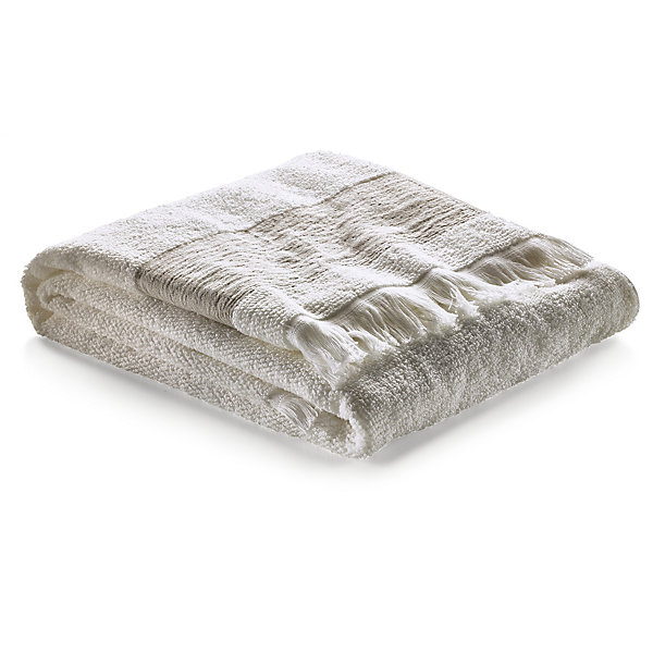 Shower Towel with Linen Border