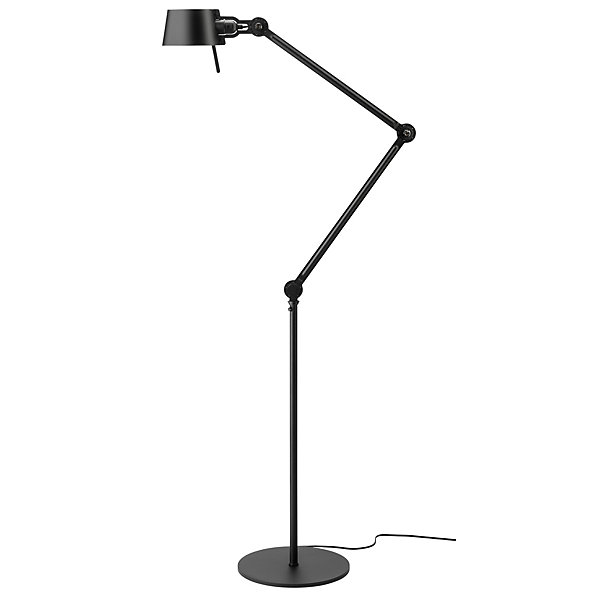 Steel and aluminium floor lamp