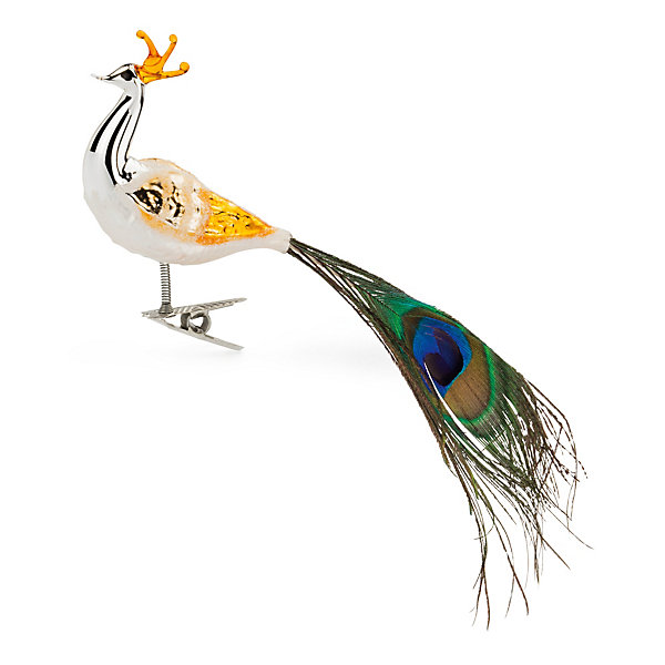 Traditional Lauscha Glass Peacock