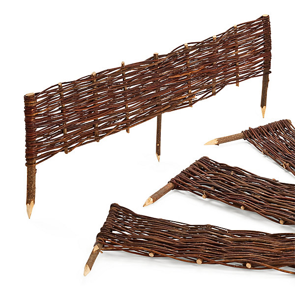 Wattle Fence Made of Willow
