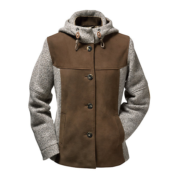 Women's Deer Leather and Boiled Wool Jacket