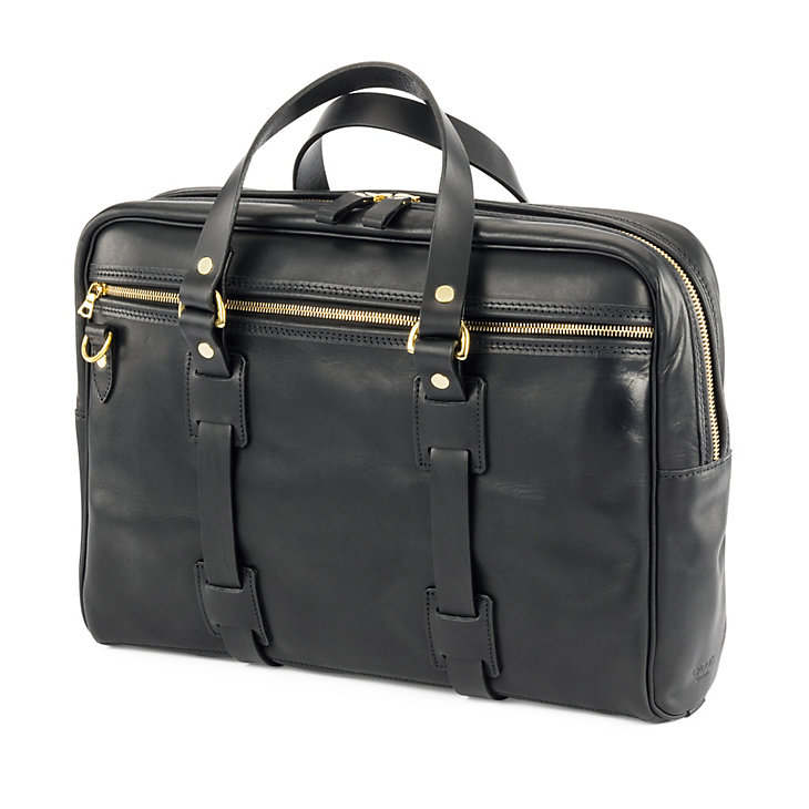 Croots Leder-Laptop-Tasche