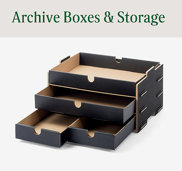 archive boxes and storage