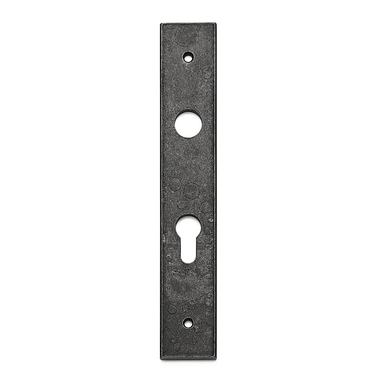 1 pair of iron backplates Door Lock with Profile Cylinde