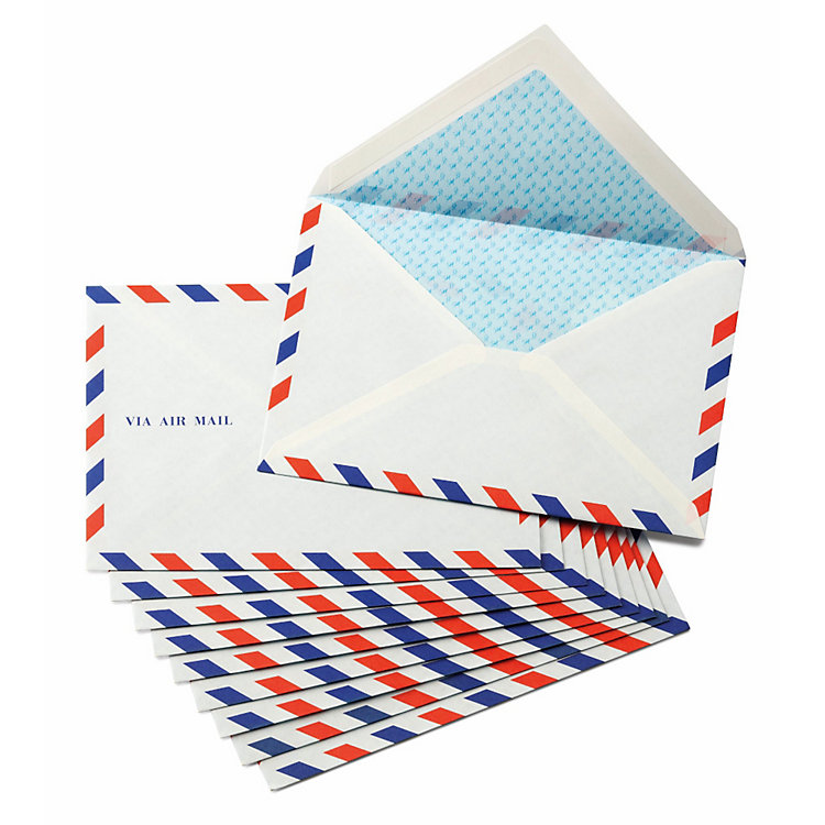10 Airmail Envelopes