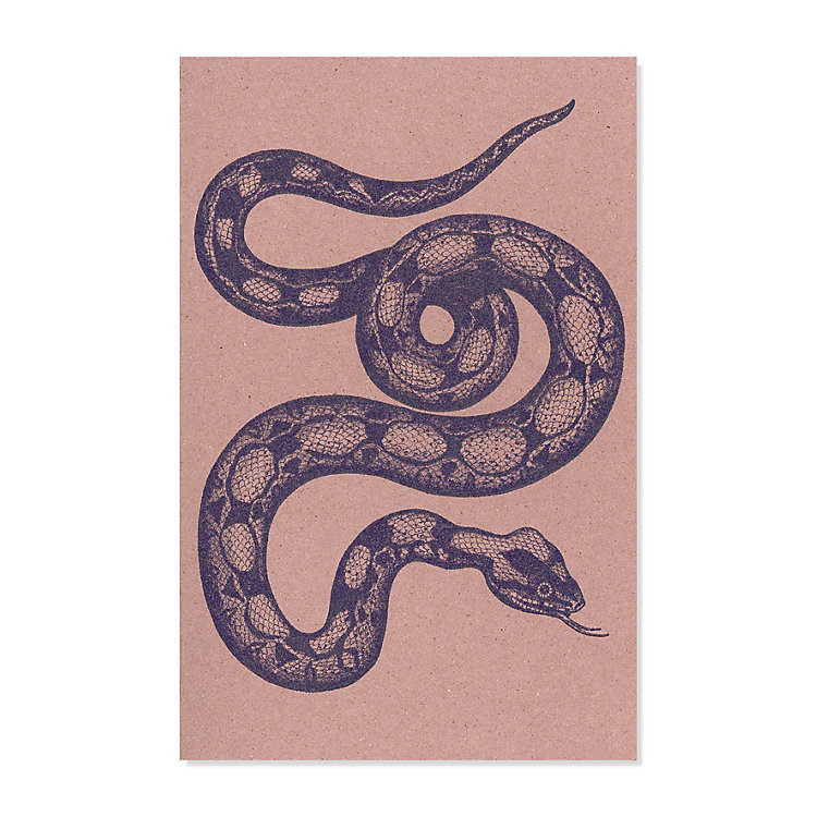 10 Greeting Cards with Animal Motifs Snake
