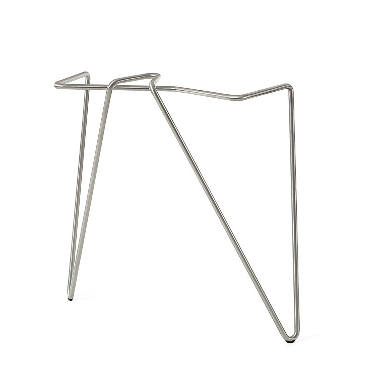 2 Table Top Clamps Stainless Steel Height 35 cm
