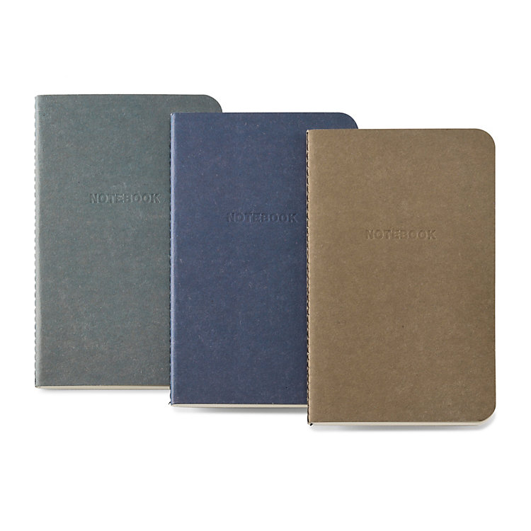 3 Notebooks with Saddle Stitching