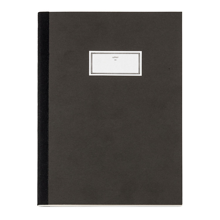A5 Notebook with Black Spine Tape, Anthracite
