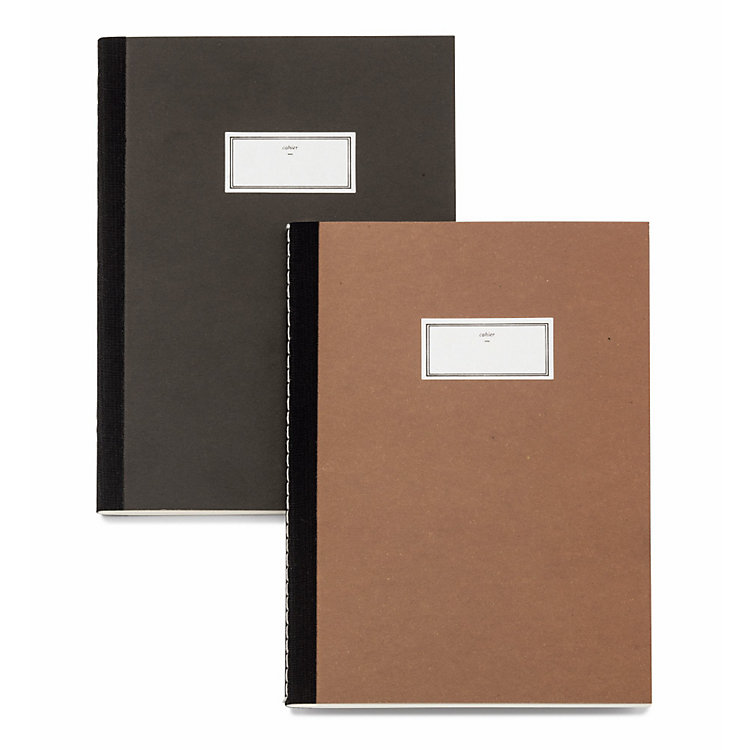 a5 notebook with black spine tape anthracite manufactum