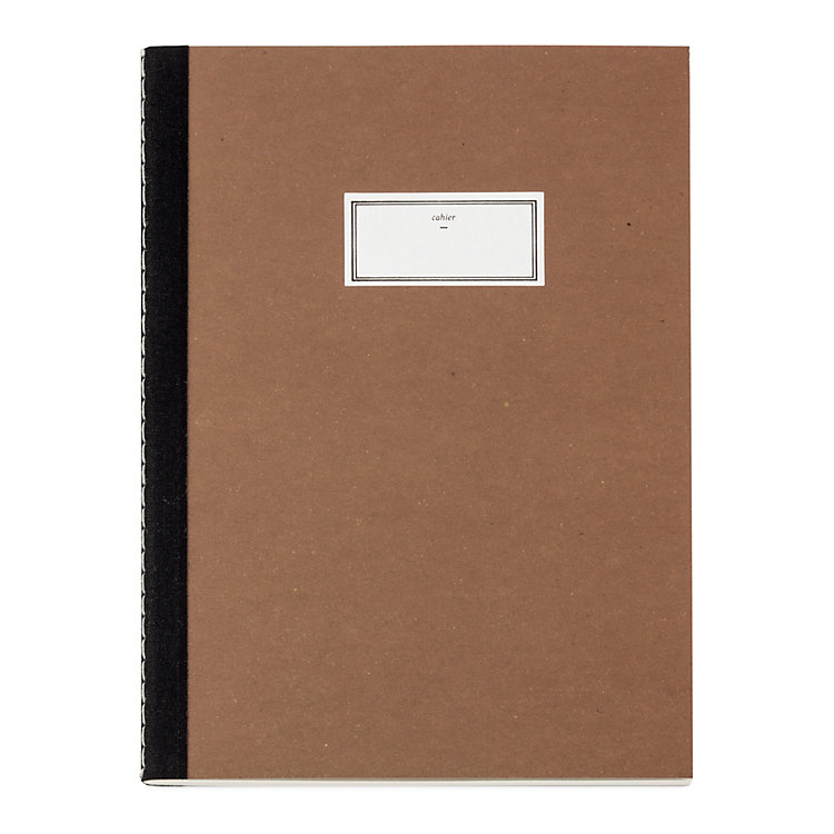 A5 Notebook with Black Spine Tape, Red-Brown