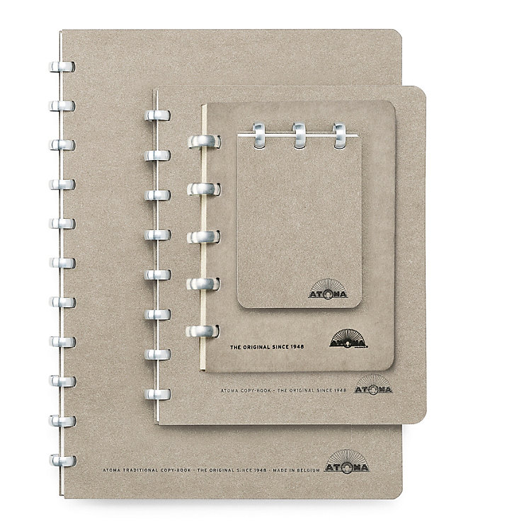 A5 Notebook with Blank Pages by Atoma, Gray
