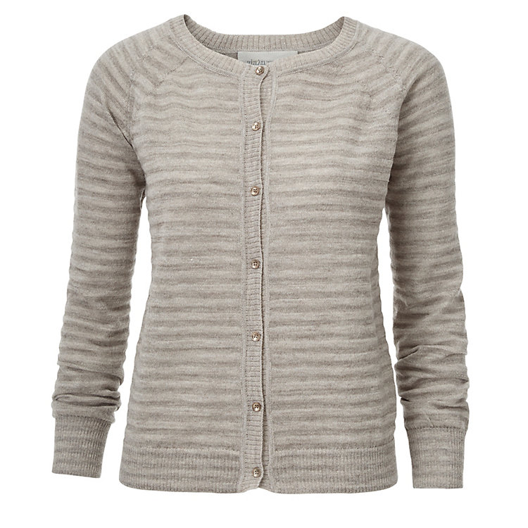 Aiayu Llama Wool Women's Lightweight Cardigan Natural