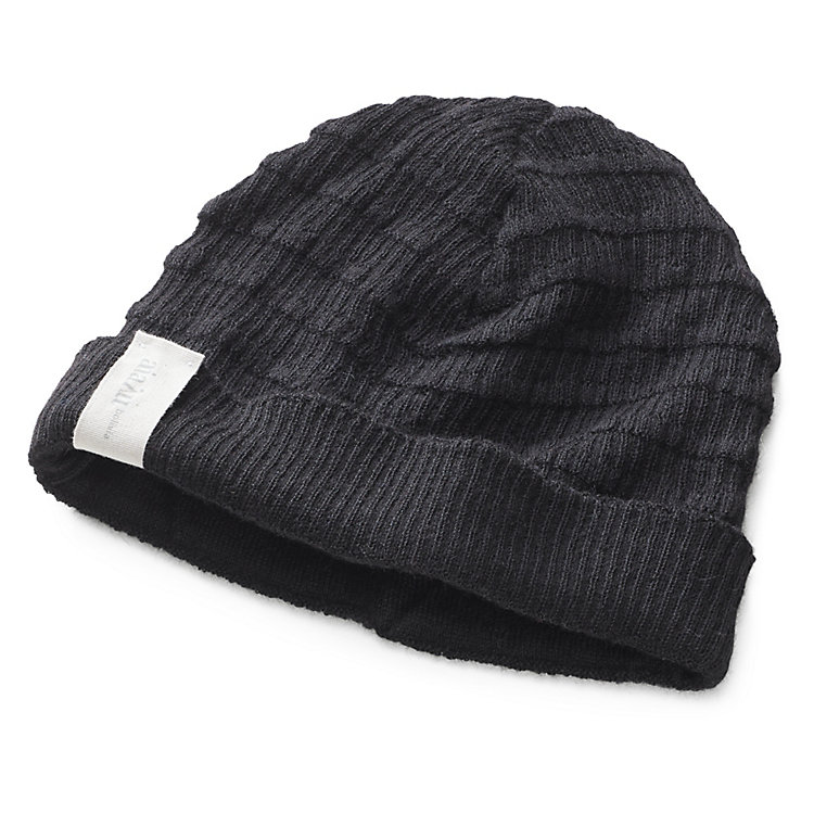 Aiayu Women's Knitted Cap Lama Wool, Black