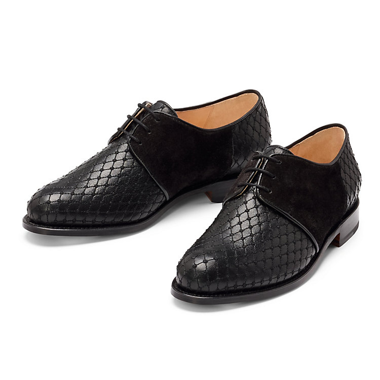 Alina Schürfeld Ladies' Embroidered Derby Shoes Black