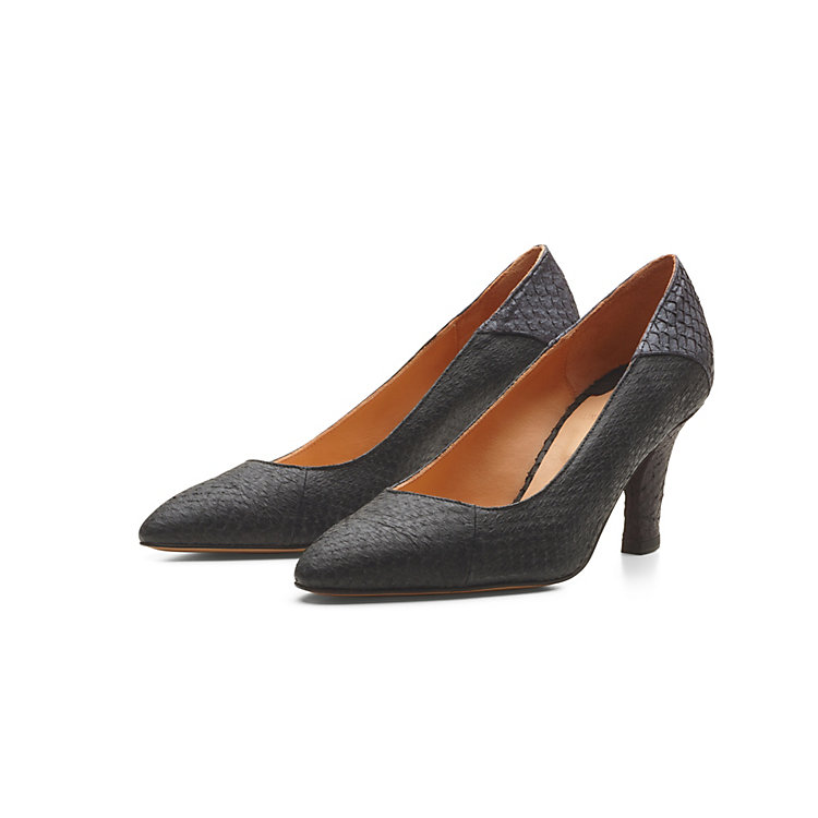 Alina Schürfeld Ladies' Salmon Leather Pumps Black