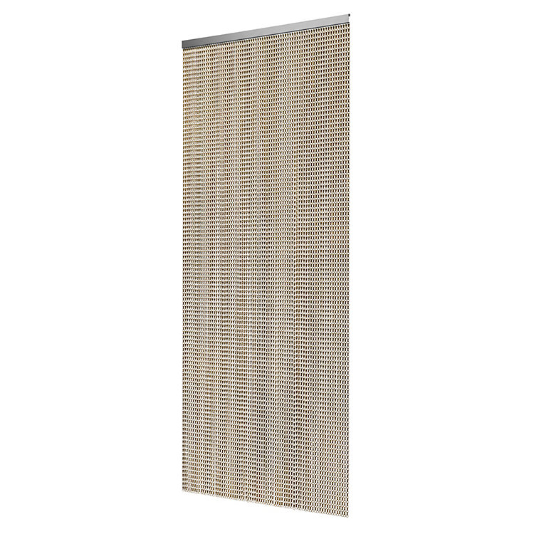 Aluminium Fly-screen Curtain Bronze