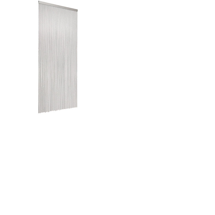 Aluminium Fly-screen Curtain Silver