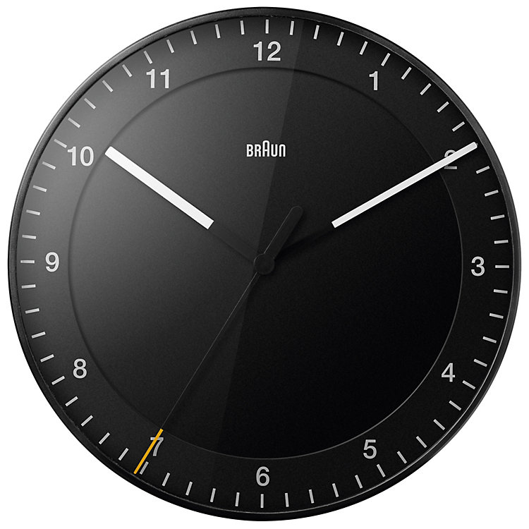 Analogue Wall Clock BRAUN Black