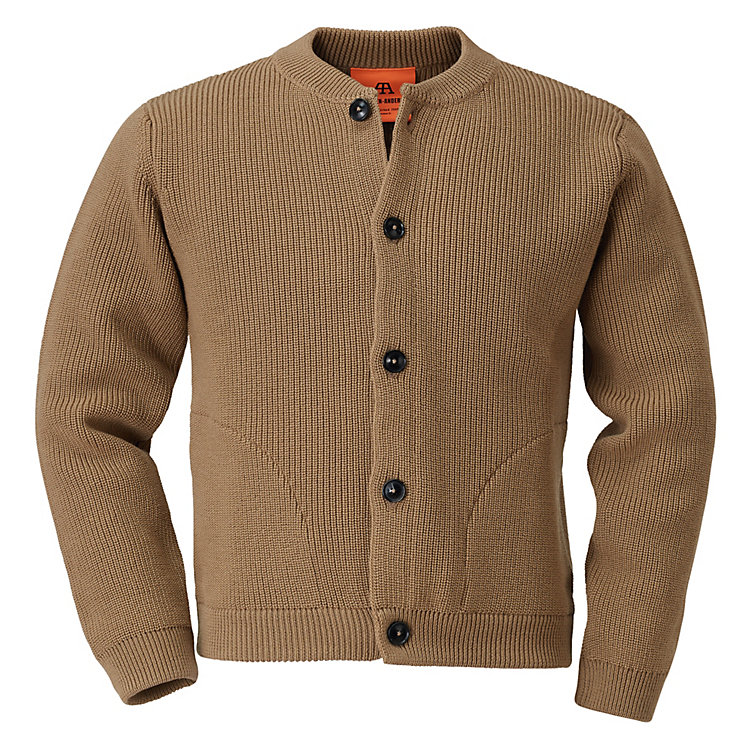Andersen-Andersen Knit Merino Wool Jacket Camel coloured