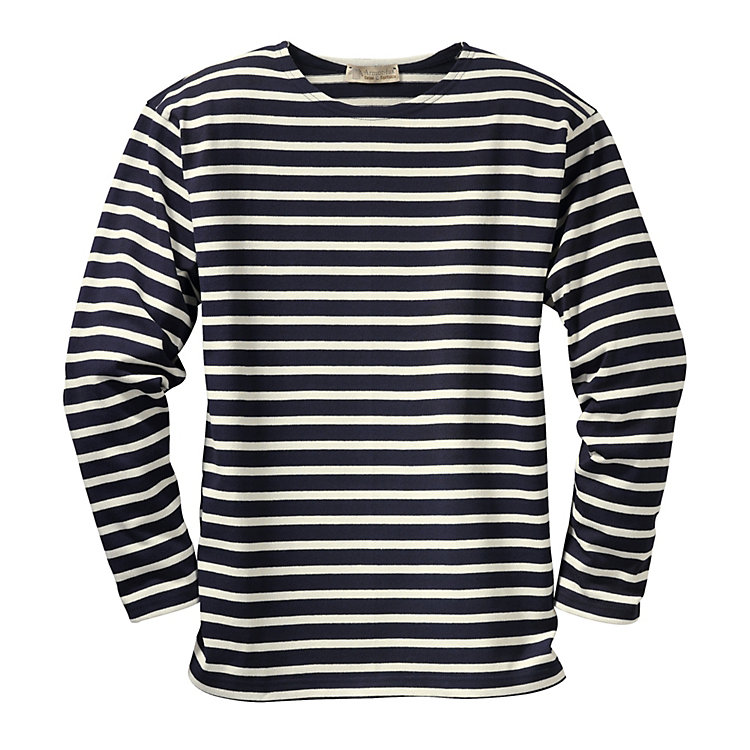 Armor lux Knit Jumper, Navy Blue and Natural Coloured