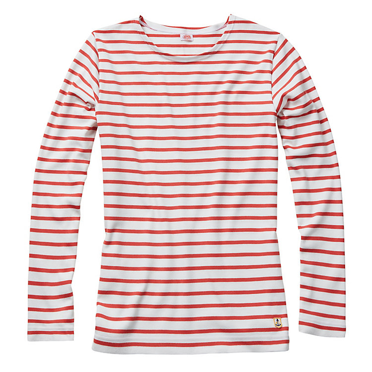 Armor Lux Lady's Sailor Shirt, White and Red