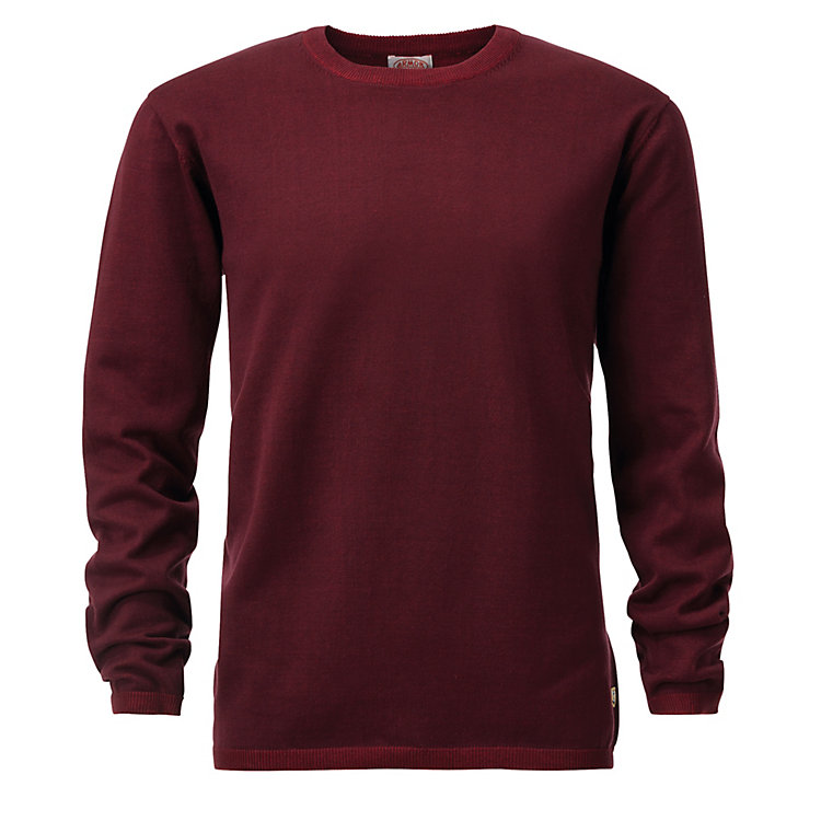 Armor Lux Men's Jumper with a Round Neckline Bordeaux