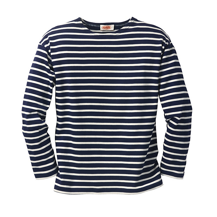 Armor lux Sailor's Long Sleeved Shirt Navy Blue-Natural